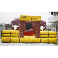 Inflatable Bull Ride Bouncer Mechanical Rodeo Bull Riding Machine Tarpaulin Inflatable for Kids Adults Playing on Sale