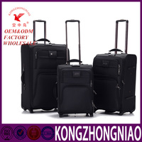 soft luggage trolley bags/keen price trolley luggage bag/trolley handle luggage wheels european style
