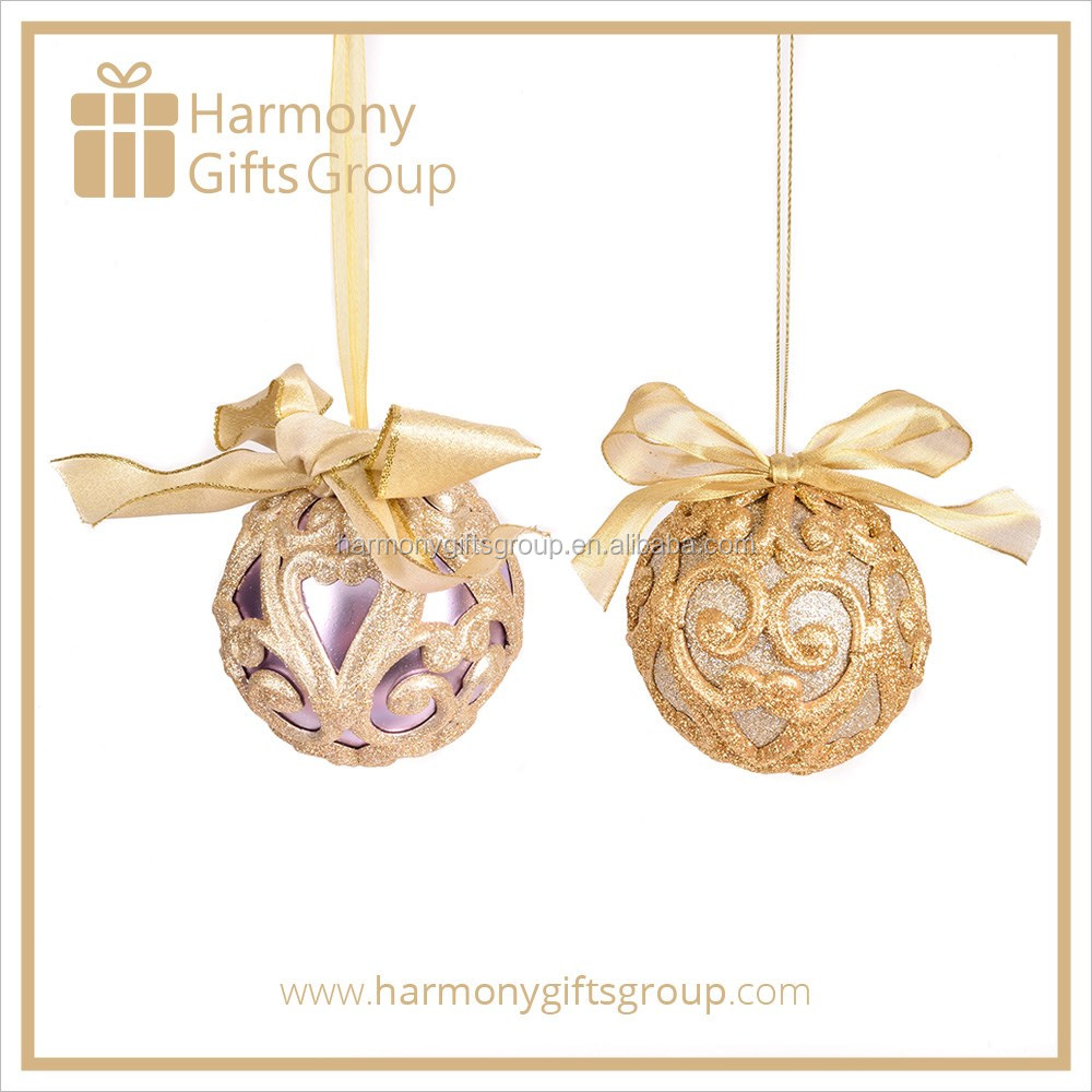 Purple and Gold Xmas ball Christmas Gifts and crafts