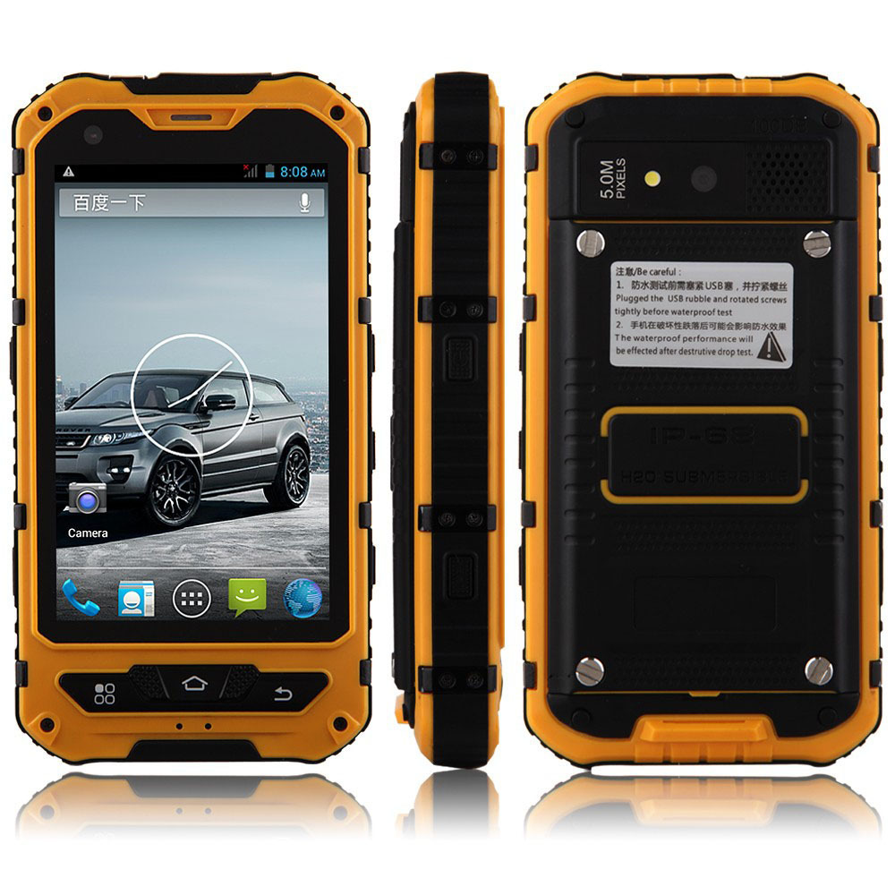 Landrover A8 IP68 WaterProof Three Proofe Mobile phone 512MB RAM 4GB ROM 3G WCDMA Outdoor Mobile Phone 3000mAh Battery