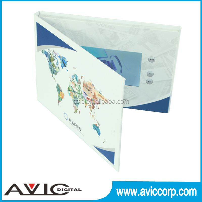 10 inch video in printing display pop up cardboard book counter display for books point of sale counter top display
