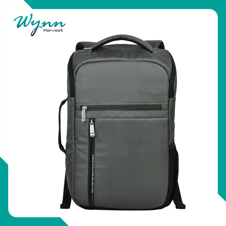 Classic black commercial backpack for laptop for boy
