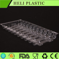 PET/PVC/PS packaging Made in China 1ml*10 units disposable medical plastic trays