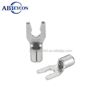 T25-LSNB Non-insulated locking spade terminals Furcated lock Naked Terminal