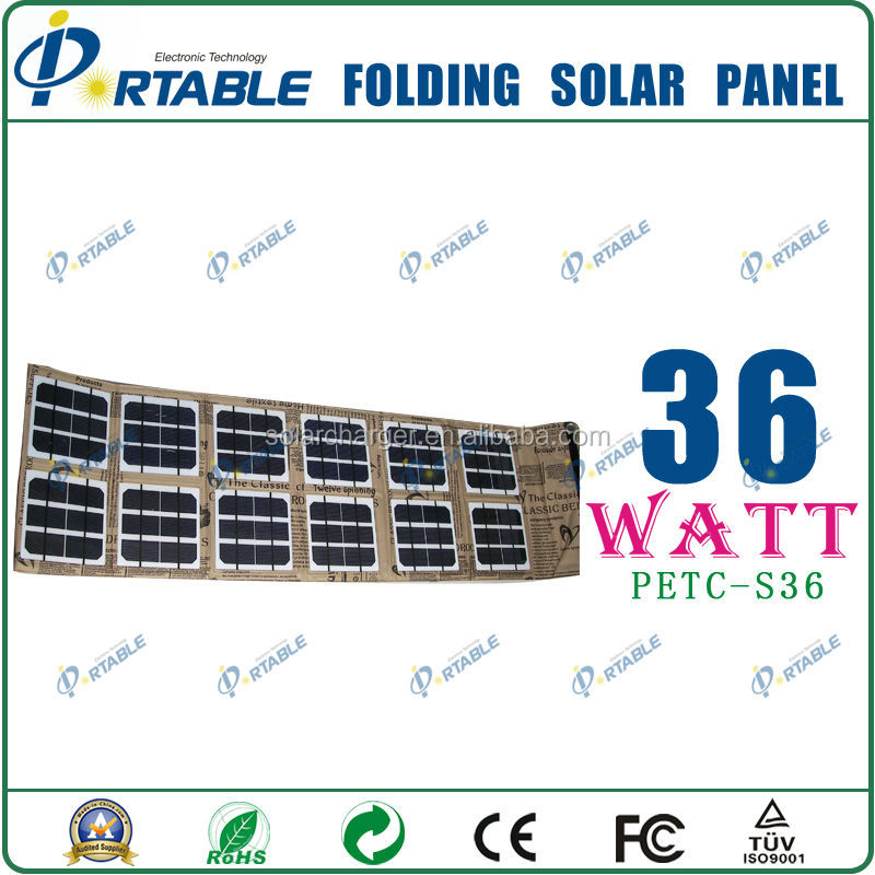 36W solar panel price for outdoors and camping