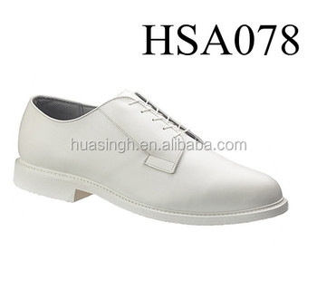 white men leather dress shoes uniform navy officer shoes with point toe
