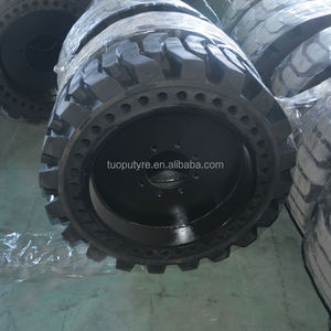 directional tread skid steer solid tires 10 16.5 12 16.5 from manufacturer