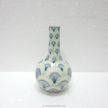 Hand painted ceramic small vase for home and table decoration
