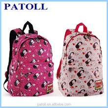 New style prunosus and white school bag backpack for girls