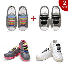 RJSILICONE silicone kids shoelaces funky shoelaces no tie shoelaces