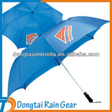 21inch*8ribs windproof large golf 2 fold umbrella with print