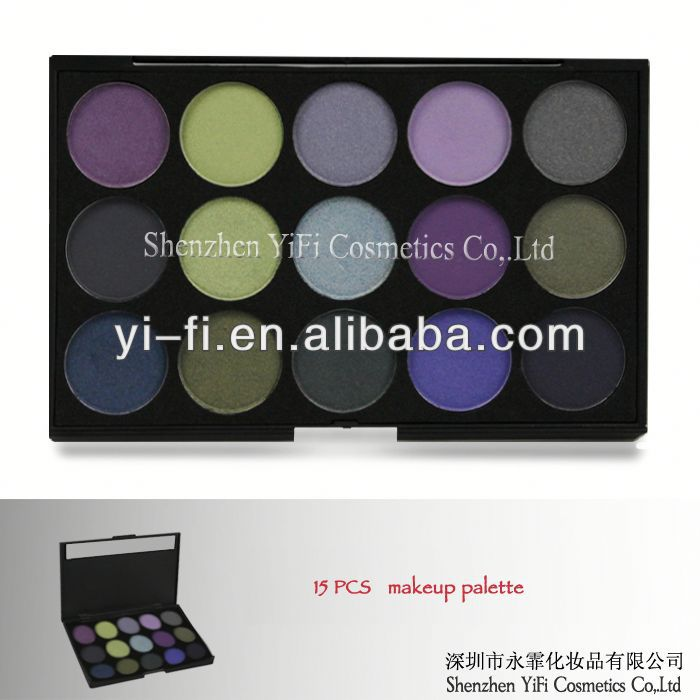 15 Cold Color Eyeshadow Palette french cosmetics brands