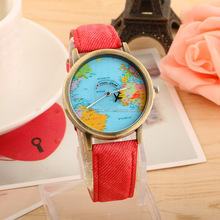 fashion travel watch world map watch leather luxury map watch
