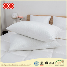 100% Polyester Fiber Ball Quilted Microfiber Filling Bolster White Goose Down Soft Hotel Synthetic Pillow