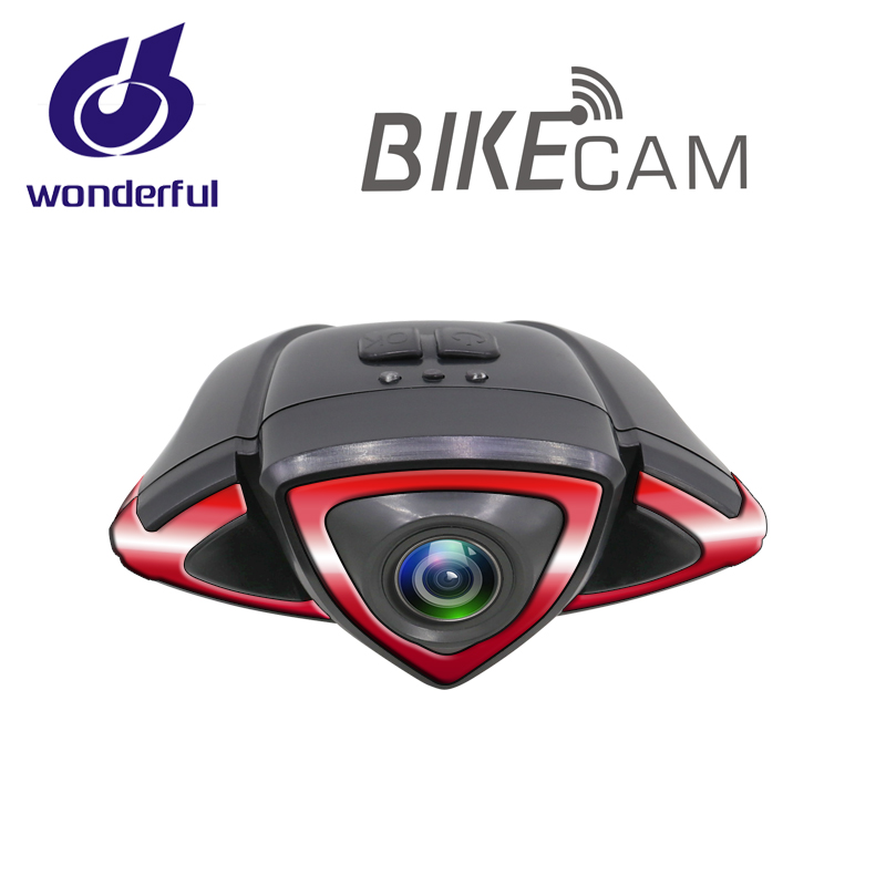 Newest bike dvr with <strong>wifi</strong> and remote control come with turn signal for bicycle racing