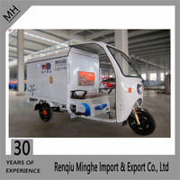 Electric Postal Mail Express Delivery Tricycle with white Closed Body