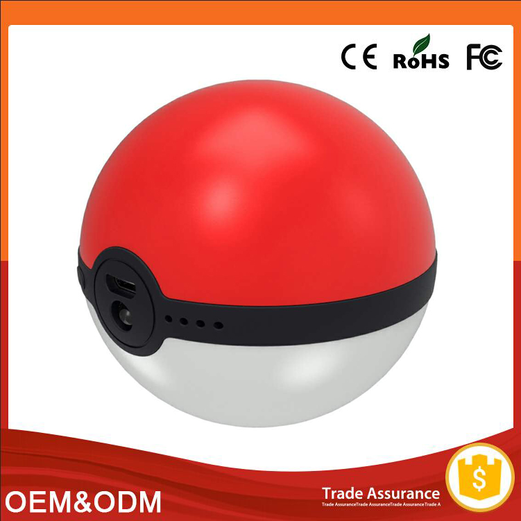 Cute cartoon pikachu pokeball magic ball hand warmer power bank