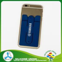 Popular silicone phone case card holder