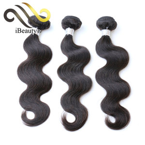 china wholesale Brazilian virgin remy 100% 10a human hair extensions cuticles intact tangle free body wave for black women