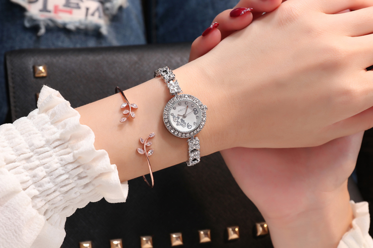 ST 214  Cheap Fashion Luxury Watches alloy Rose Quartz Watch Women Wristwatch Casual New Business Ladies Watch