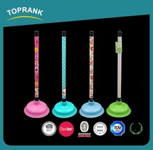 Toprank Custom Best Colored Decorative Plastic Toilet Plunger Handle Rubber Toilet Plunger Head Heavy Duty Toilet Plunger