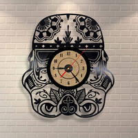 Wall clock lase cut plexiglass time clock