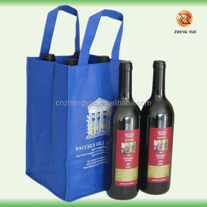 customized high quality non-woven wine bottle bag