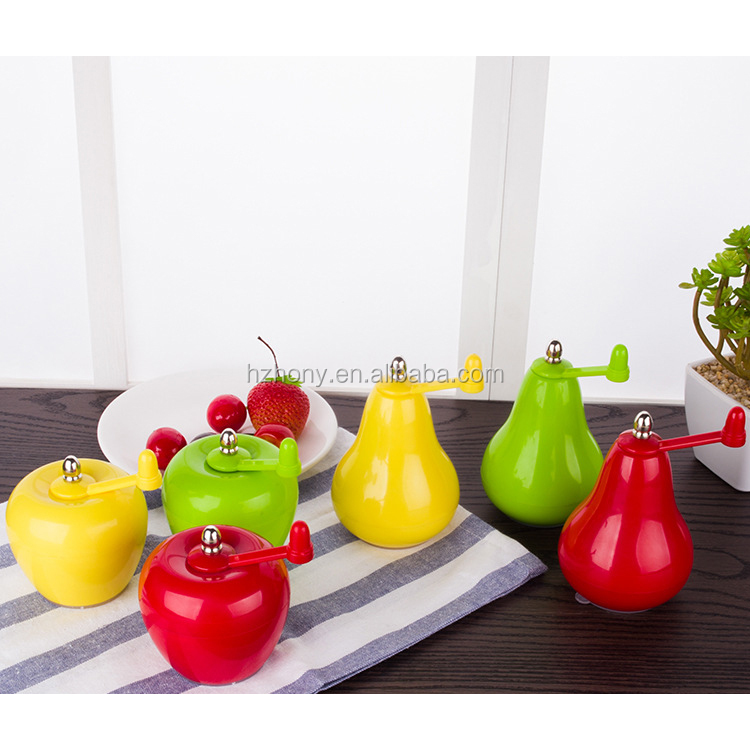 Red & Yellow color Apple shape creative Kitchen gadget hand pepper grinder mill