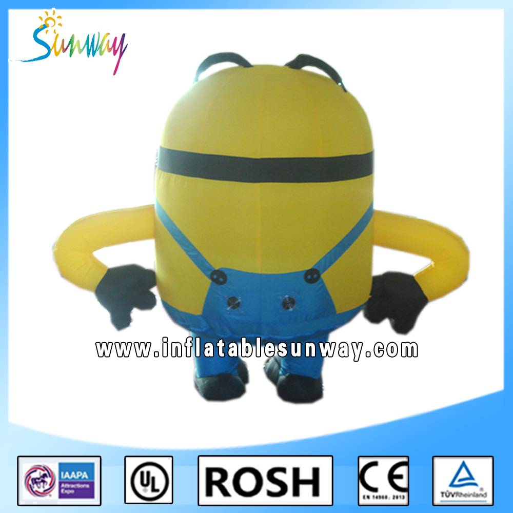 2016 Sunway Cute Advertising Large Inflatable Minion, Inflatable Despicable Me Minion For Sale