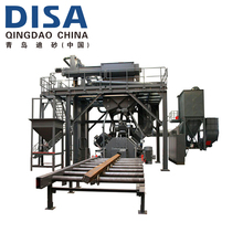 DISA steel plate and sections shot blasting machine with roller conveyor