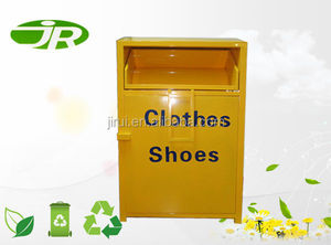 charity metal clothing donation bin for outdoor usage