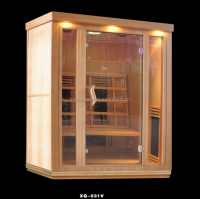 3 people Indoor portable infrared Dry steam Sauna Room With Ceramic Heater (ISO/CE/TUV/FSC/RoHS)