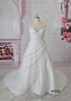 Plus size organza hot sale sweetheart a line special design bridal gown