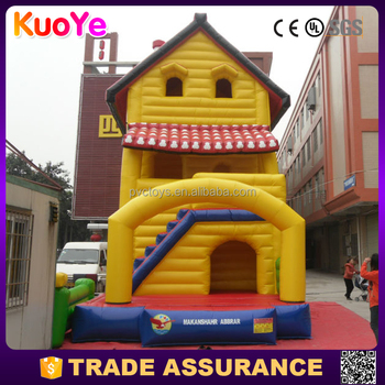 high quality house type inflatable fun city for sale