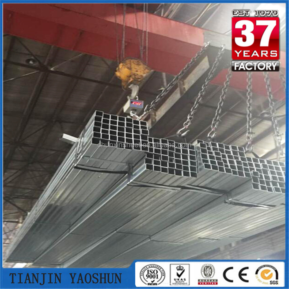 Reliable factory galvanized square steel pipe for green house building
