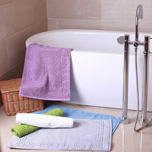 Terry cloth 100% cotton hotel bath floor mat bath foot towel