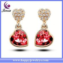Bling crystal fashionable designwholesale price 18k gold earring models jewelry YWE5188-4