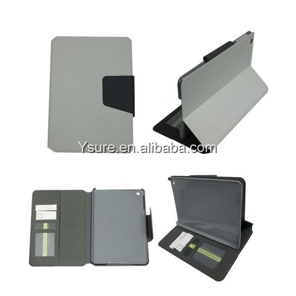 New product pu+pc White leather case for ipad mini with stand