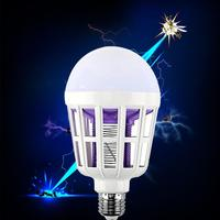 E27 15W Electronic Anti Mosquito Repeller Light Bulb, 220V 110V Led Mosquito Killer Light Bulb