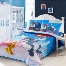 Beautiful Children Bedding Set 3pcs, Quilt Cover, Bed Sheet, Pillow Case, Cartoon Design Tom and Jerry