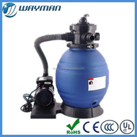 2015 new Portable Pool filtration system water well treatment sand filter with pump combo