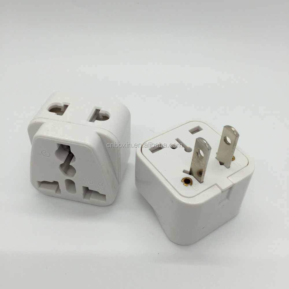 New products Hot, 2 ways sockets US plug to Universal Travel Adapter converter charger EU UK AU to US American travel adapter