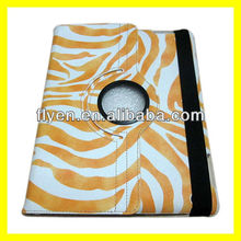 Rotating Magnetic Leather Case for the new iPad 3 2 4 Smart Cover PU Leather Cases Accessories Stylish Zebra Pinto New Yellow