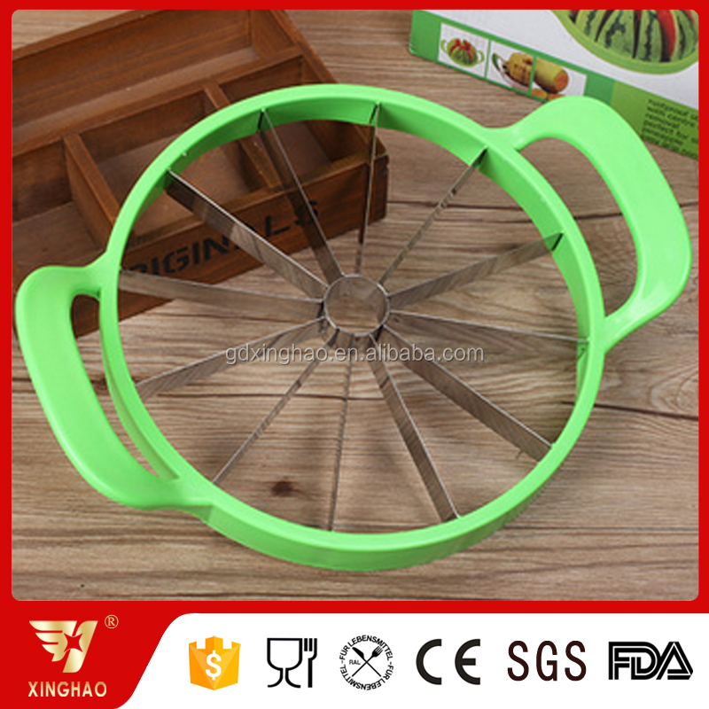 Big Safe Stainless Steel Fruit Melon Watermelon Slicer