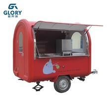 New Style Fast Food Cart Multifunction Two Wheels Food Vending Cart Commercial Customized Logo Mobile Fast Food Truck For Sale