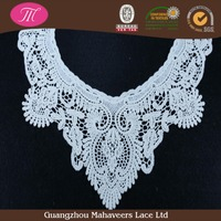 Fashion cotton crochet lace collar for women, crown shape crochet collar patch