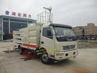 Multifunction DFAC 4x2 water sprayer cleaning and sweeper truck
