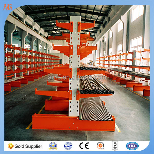 Promotional galavanized steel Cantilever Racking for large plastic food containers storage