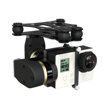 Mini 2D 2 axis brushless stabilizer for drone/UAV