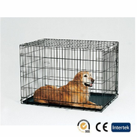 Dog cage tray, heavy-duty folding metal dog cages